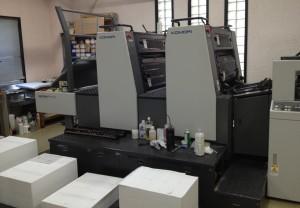 平版印刷機2ユニット